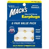 Mack's Pillowsoft Earplugs 6 Pair Value Pack- White